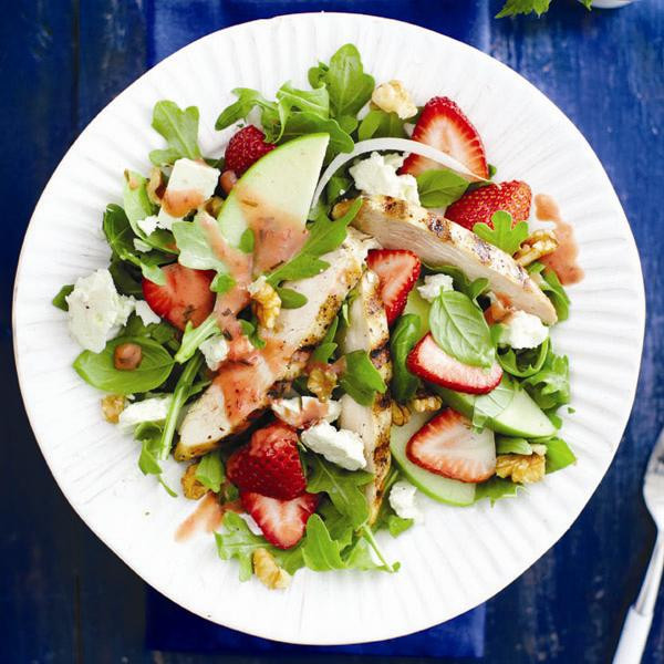 Strawberry Chicken Salad  Grilled chicken and strawberry salad recipe Chatelaine