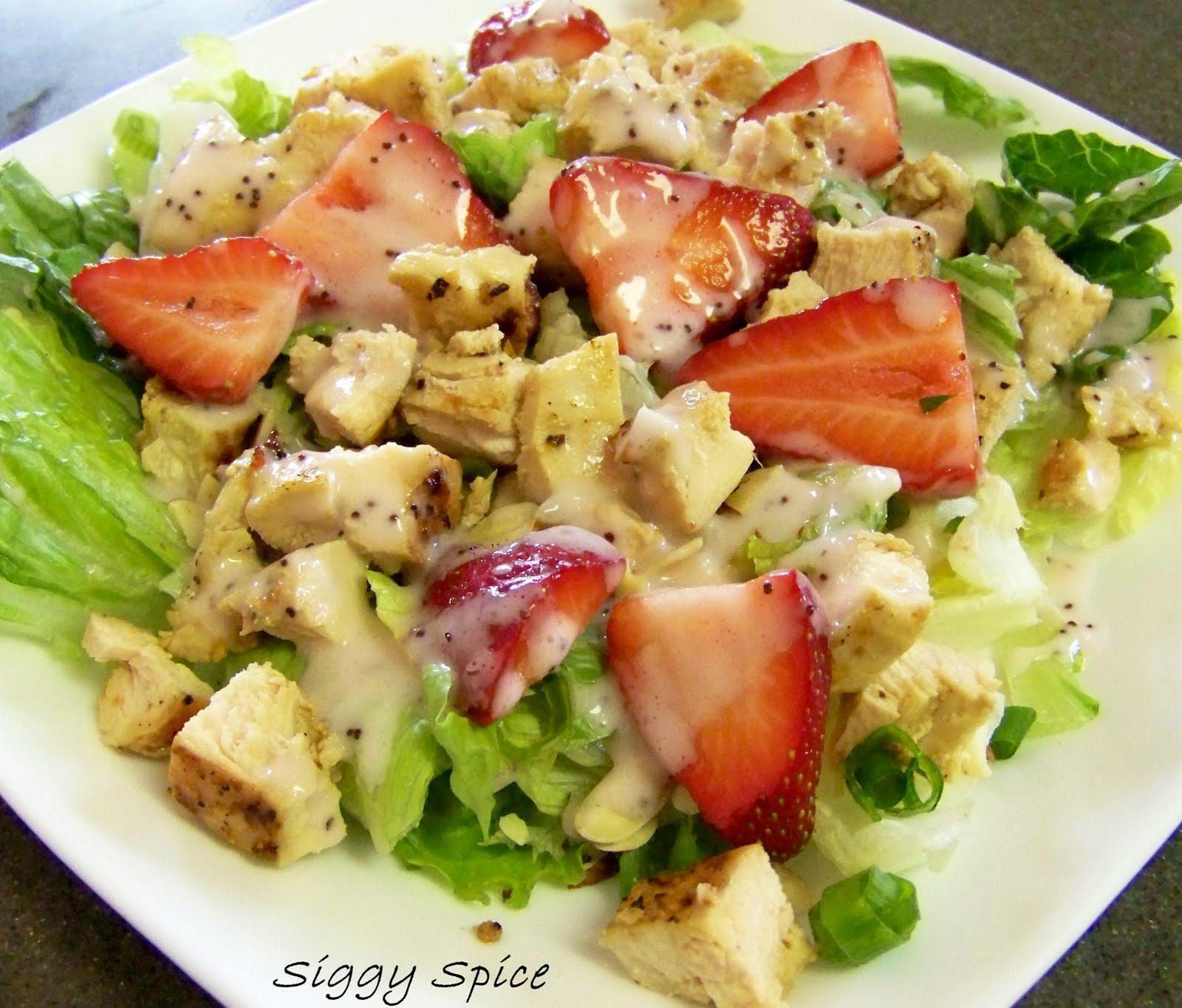 Strawberry Chicken Salad  Siggy Spice Strawberry Chicken Salad
