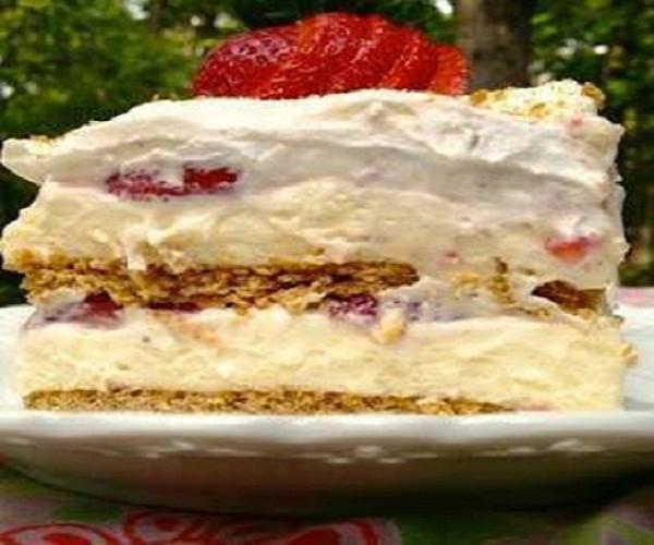 Strawberry Cream Cheese Graham Cracker Dessert  STRAWBERRY CREAM CHEESE ICEBOX CAKE – Best Cooking recipes