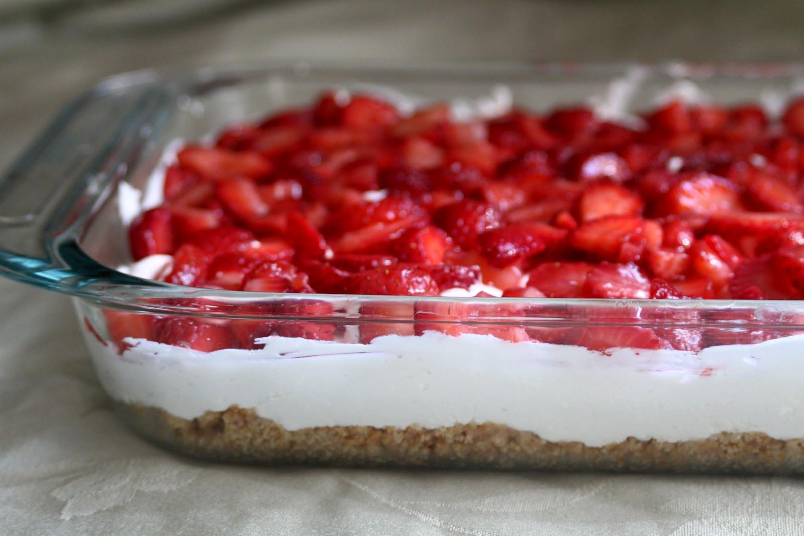 Strawberry Cream Cheese Graham Cracker Dessert  Baker Homemaker Sensational Strawberry Cream Dessert