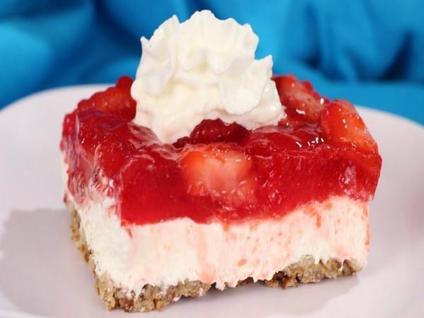 Strawberry Cream Cheese Graham Cracker Dessert  Strawberry cream cheese dessert For pretzel crust and