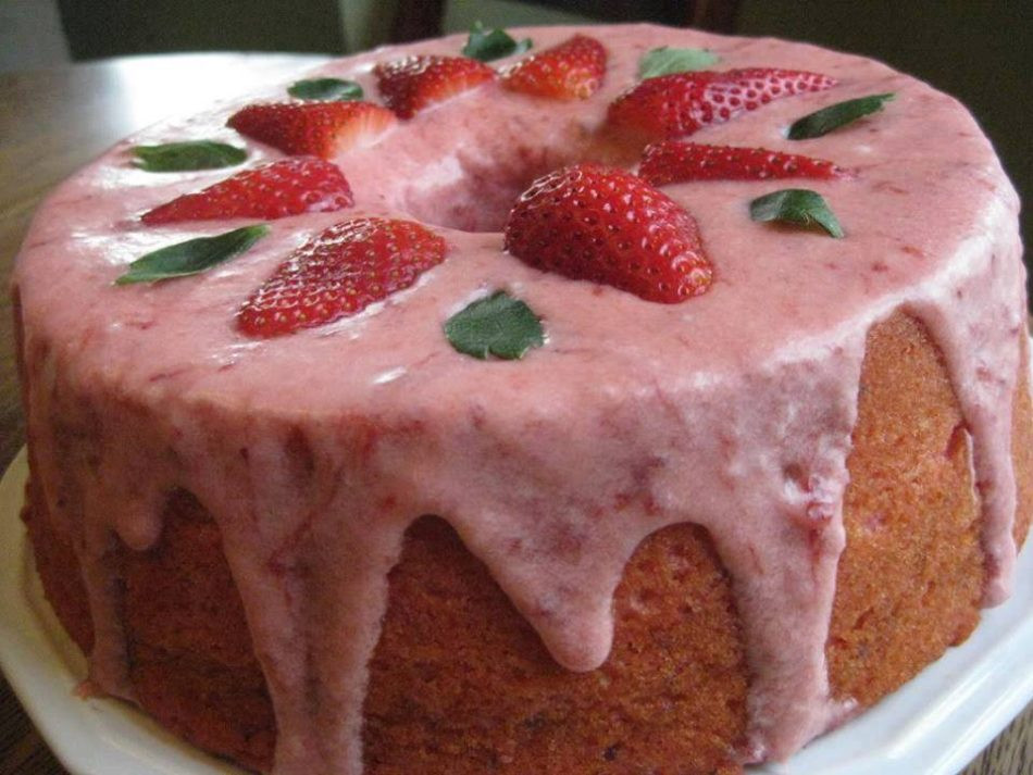 Strawberry Pound Cake  STRAWBERRY POUND CAKE – Best Cooking recipes In the world