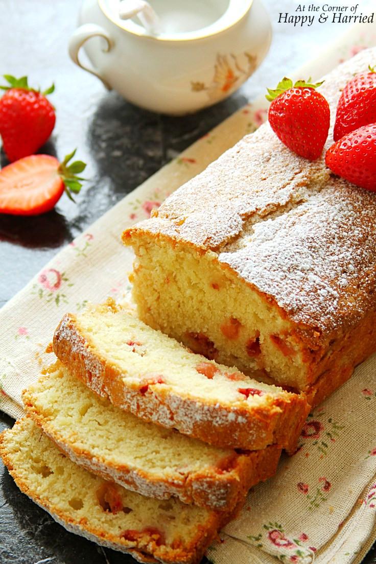 Strawberry Pound Cake  20 Christmas Cakes & Cookies A Recipe Roundup