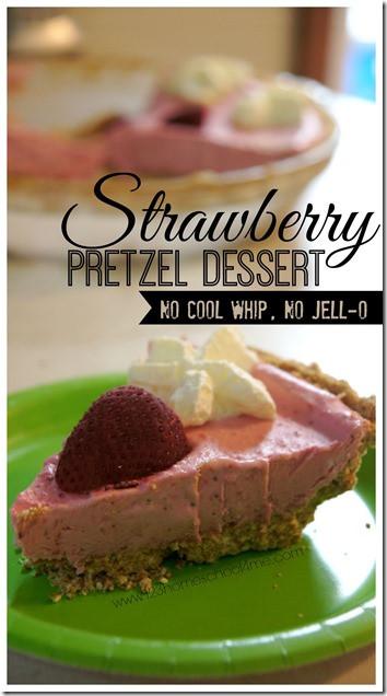 Strawberry Pretzel Dessert Without Jello  Strawberry Pretzel Dessert no Cool whip or Jello