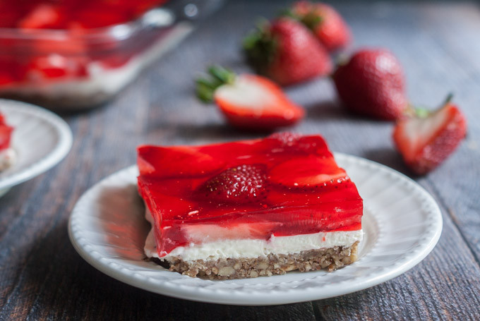 Strawberry Pretzel Dessert Without Jello  Low Carb Strawberry Pretzel less Dessert My Life