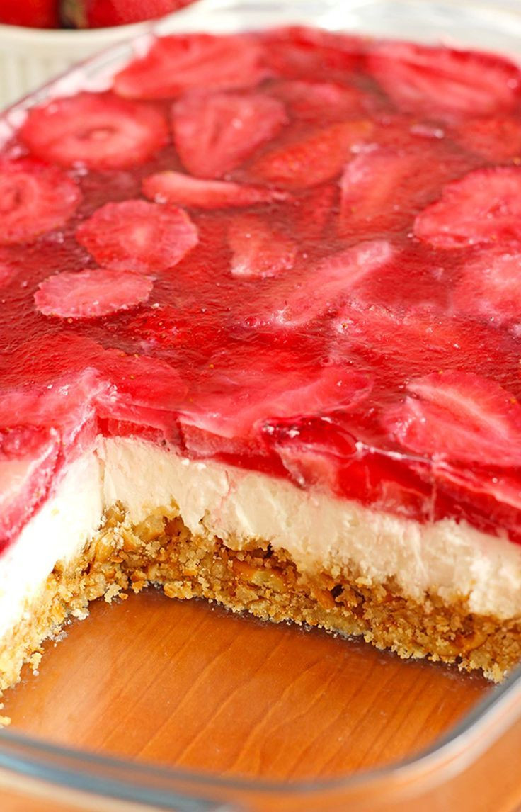Strawberry Pretzel Dessert Without Jello  Strawberry Pretzel Dessert 요리법