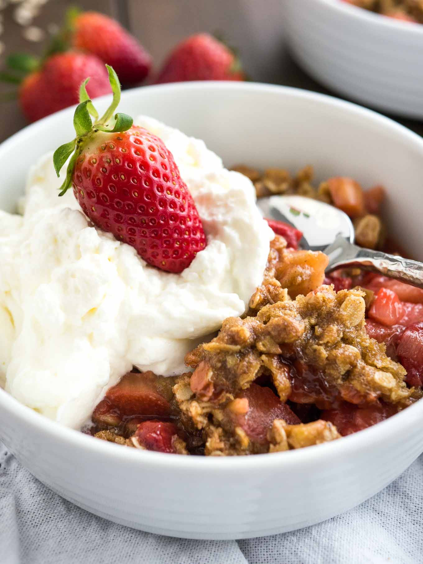 Strawberry Rubarb Dessert  Easy Strawberry Rhubarb Crisp Recipe Prepped in less than
