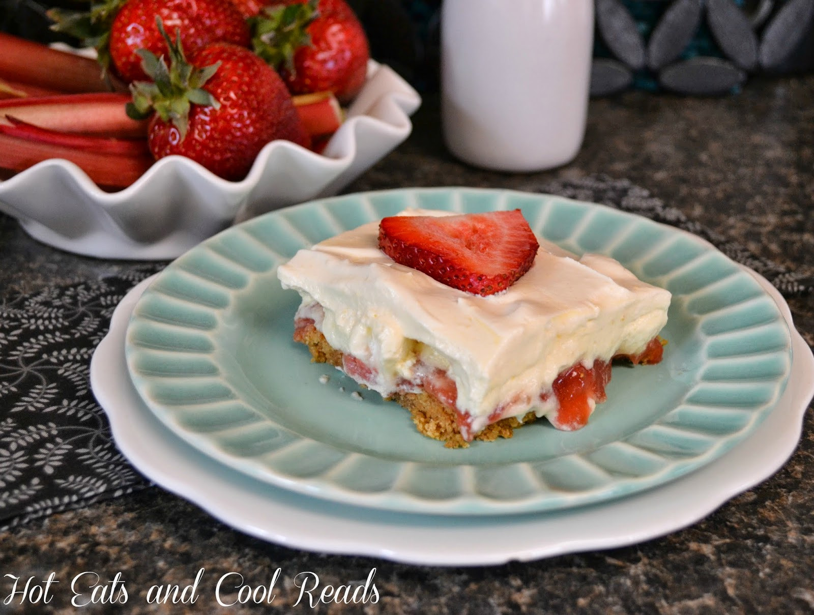 Strawberry Rubarb Dessert  Hot Eats and Cool Reads Luscious Strawberry Rhubarb