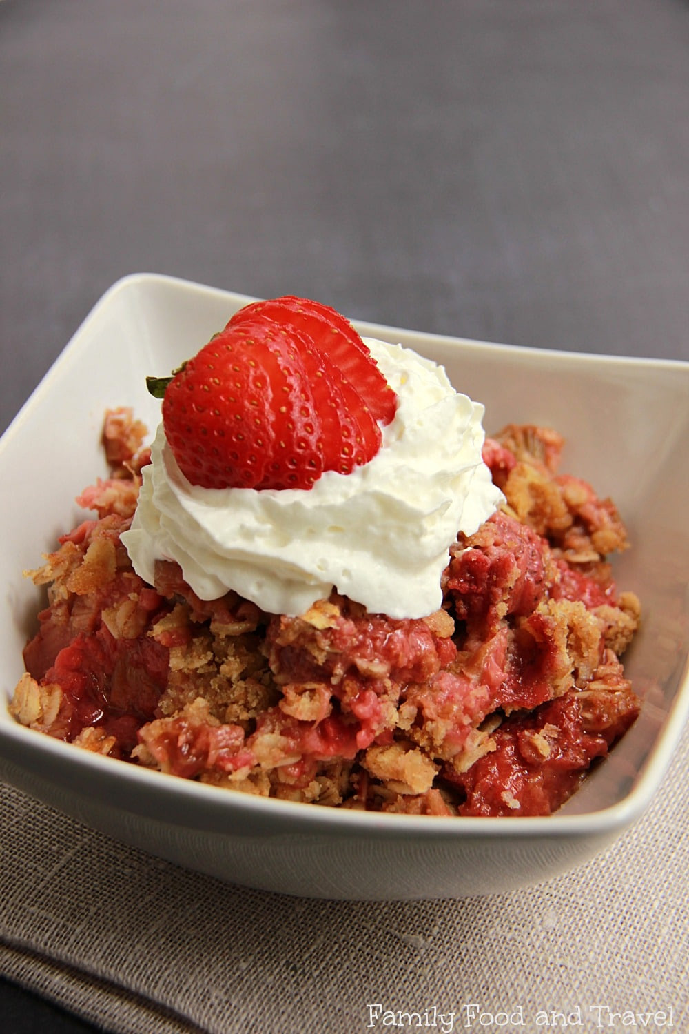 Strawberry Rubarb Dessert  Strawberry Rhubarb Crisp Family Food And Travel