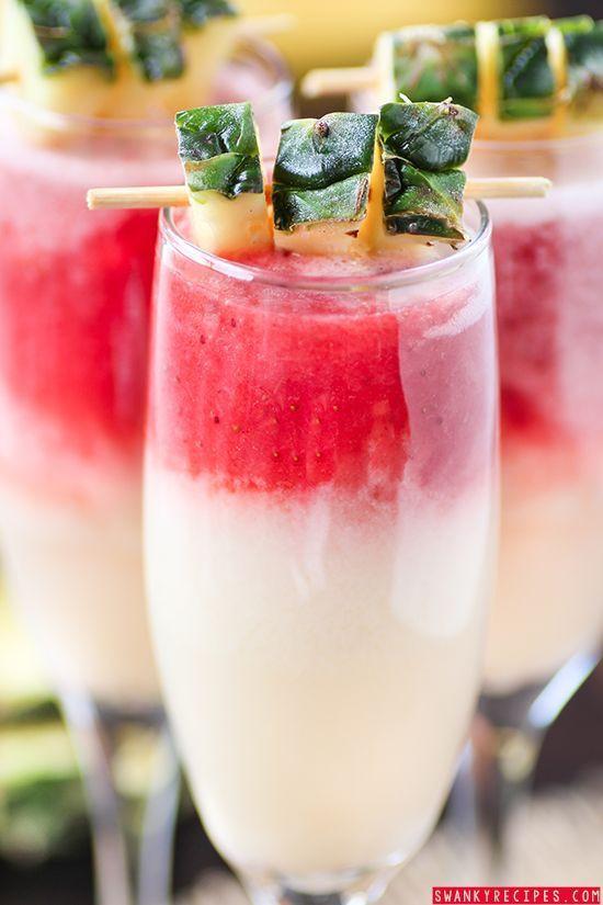 Strawberry Rum Drinks  Strawberry Lava Flow Pina Colada Recipe