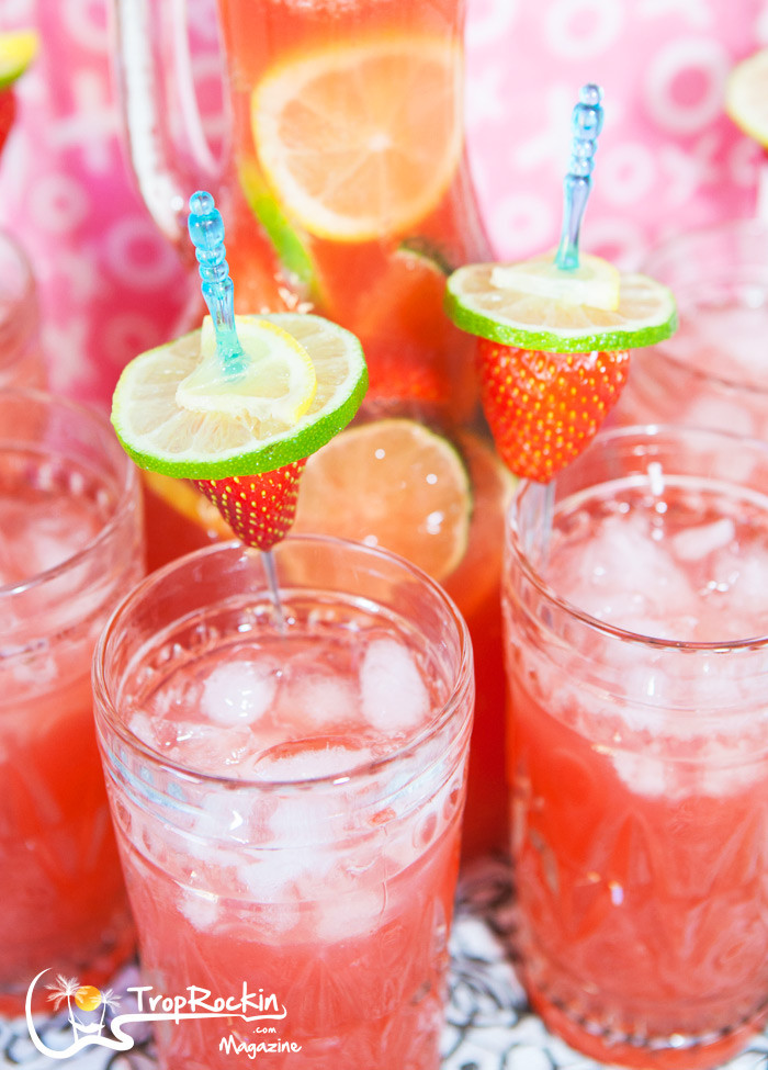 Strawberry Rum Drinks  Mixed Drinks Strawberry Lemon Lime Rum Punch Drink Recipe