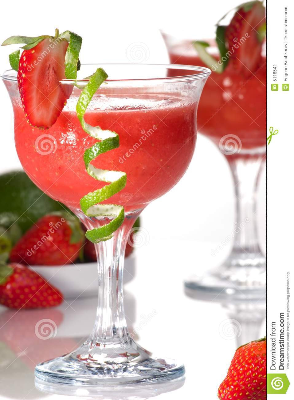 Strawberry Rum Drinks  Strawberry Daiquiri Most Popular Cocktails Serie Stock