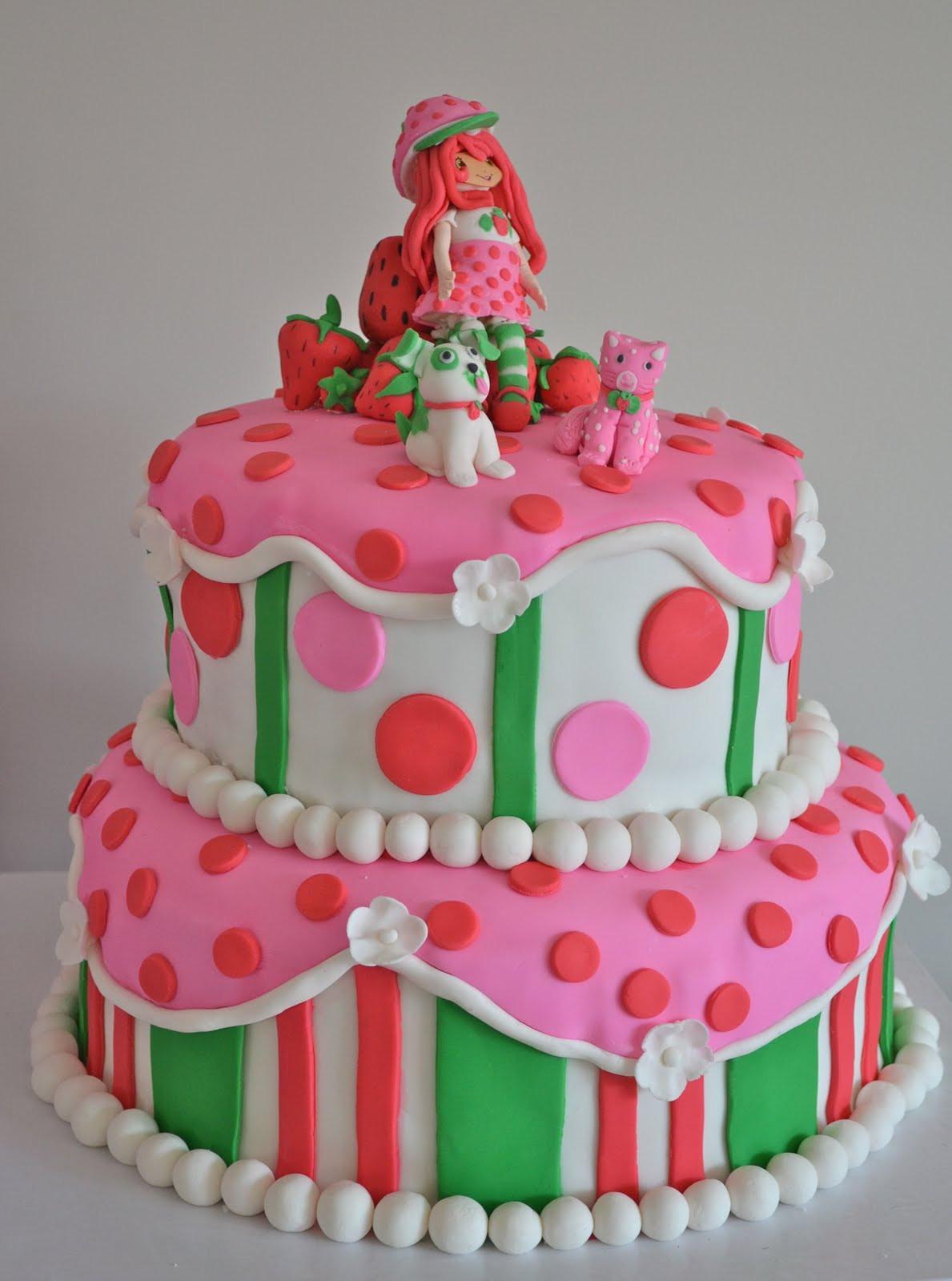 Strawberry Shortcake Cake  Emily s Custom Bakeshop Kallie s Strawberry Shortcake Cake