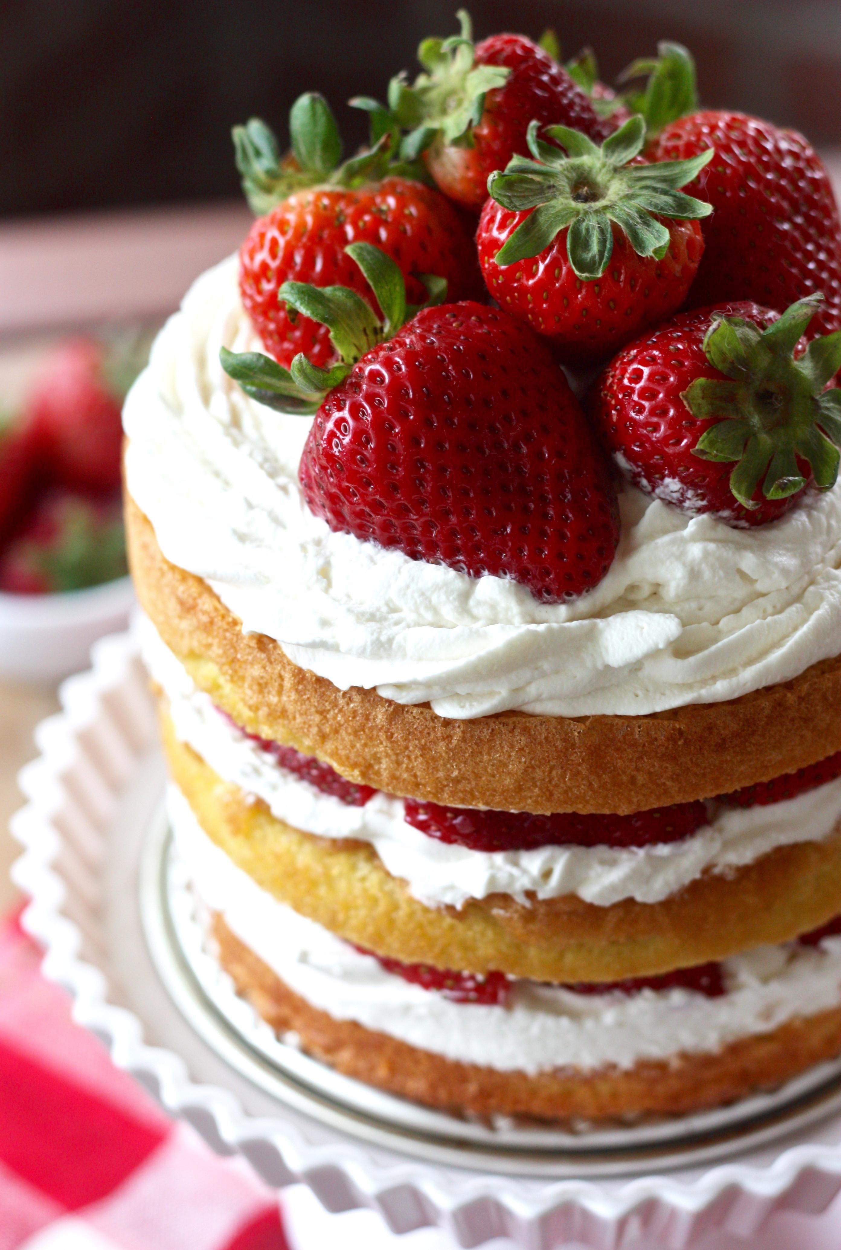 Strawberry Shortcake Cake  Erica s Sweet Tooth Strawberry Shortcake Layer Cake