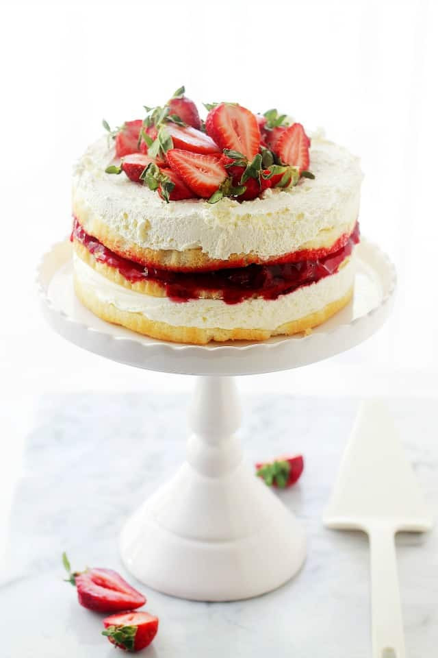 Strawberry Shortcake Cake  Strawberry Shortcake Cake Recipe