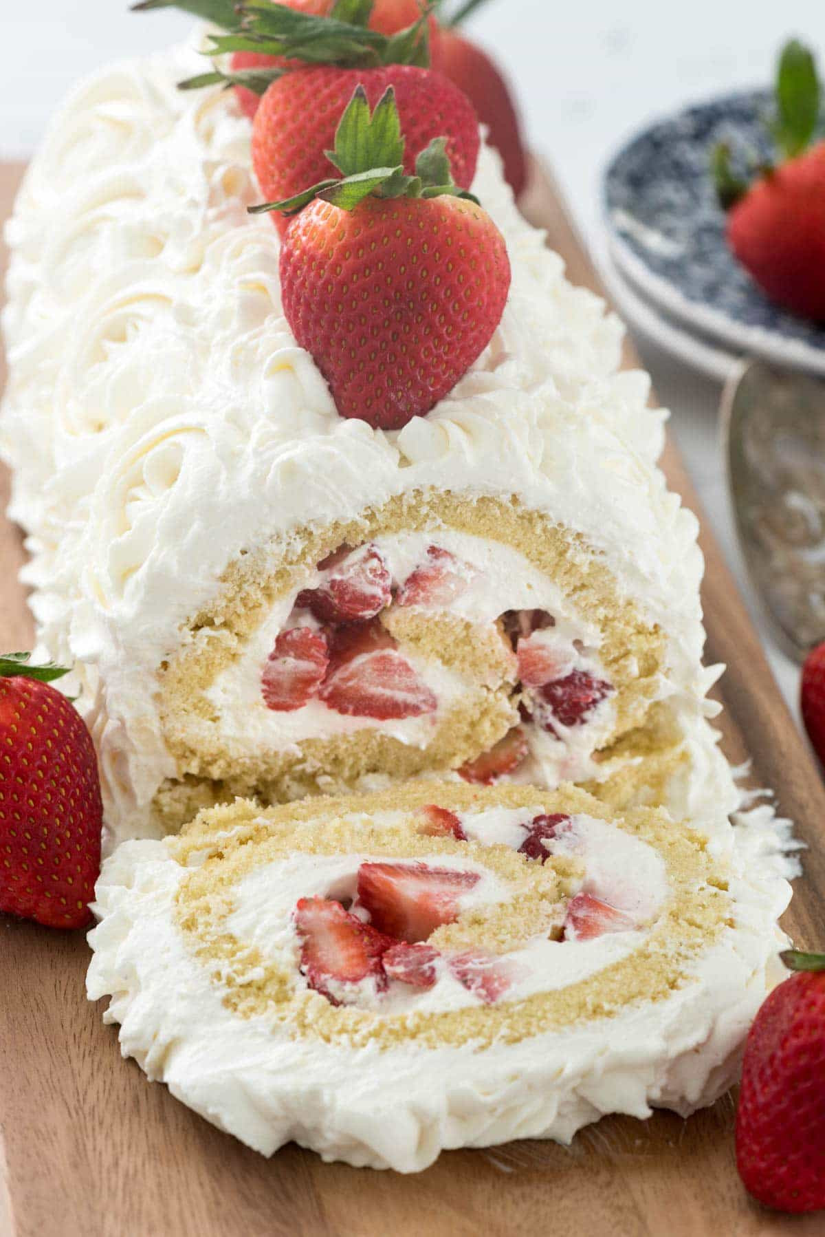 Strawberry Shortcake Cake  Strawberry Shortcake Cake Roll Crazy for Crust