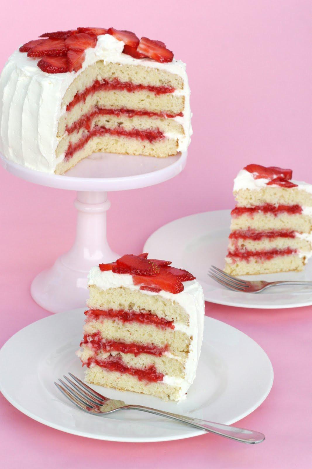 Strawberry Shortcake Cake  Strawberry Shortcake… Cake – Glorious Treats