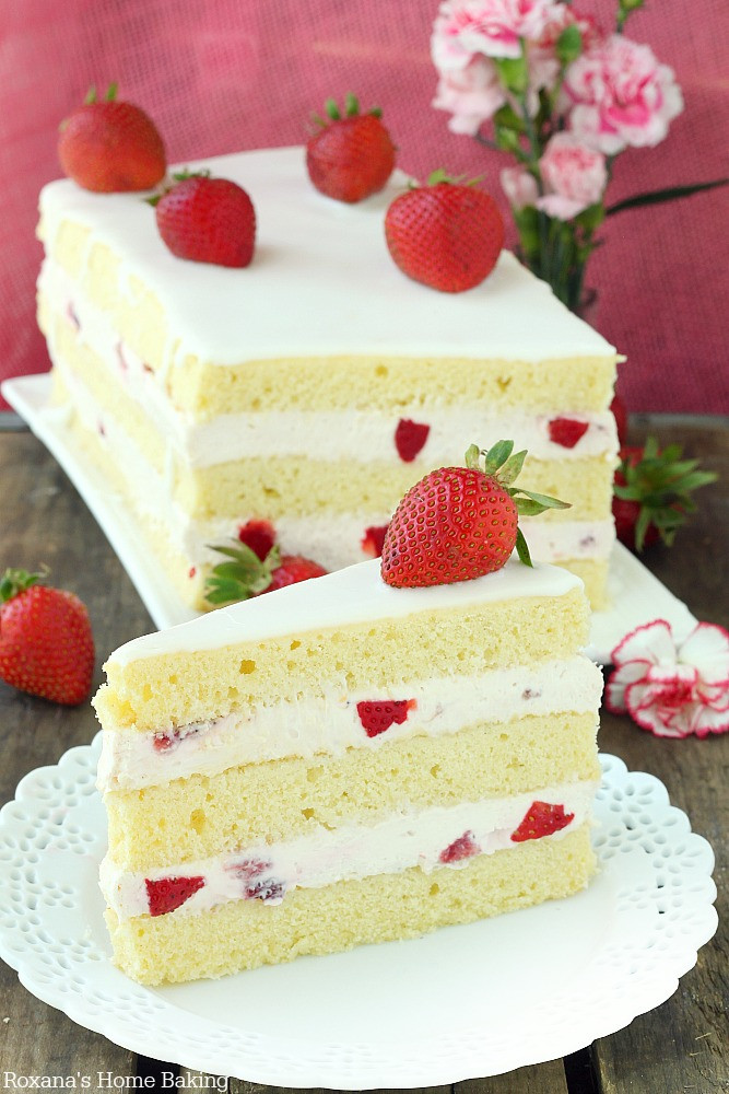 Strawberry Shortcake Cake  The Kwoks Viewfinder To Bake List 2014 15