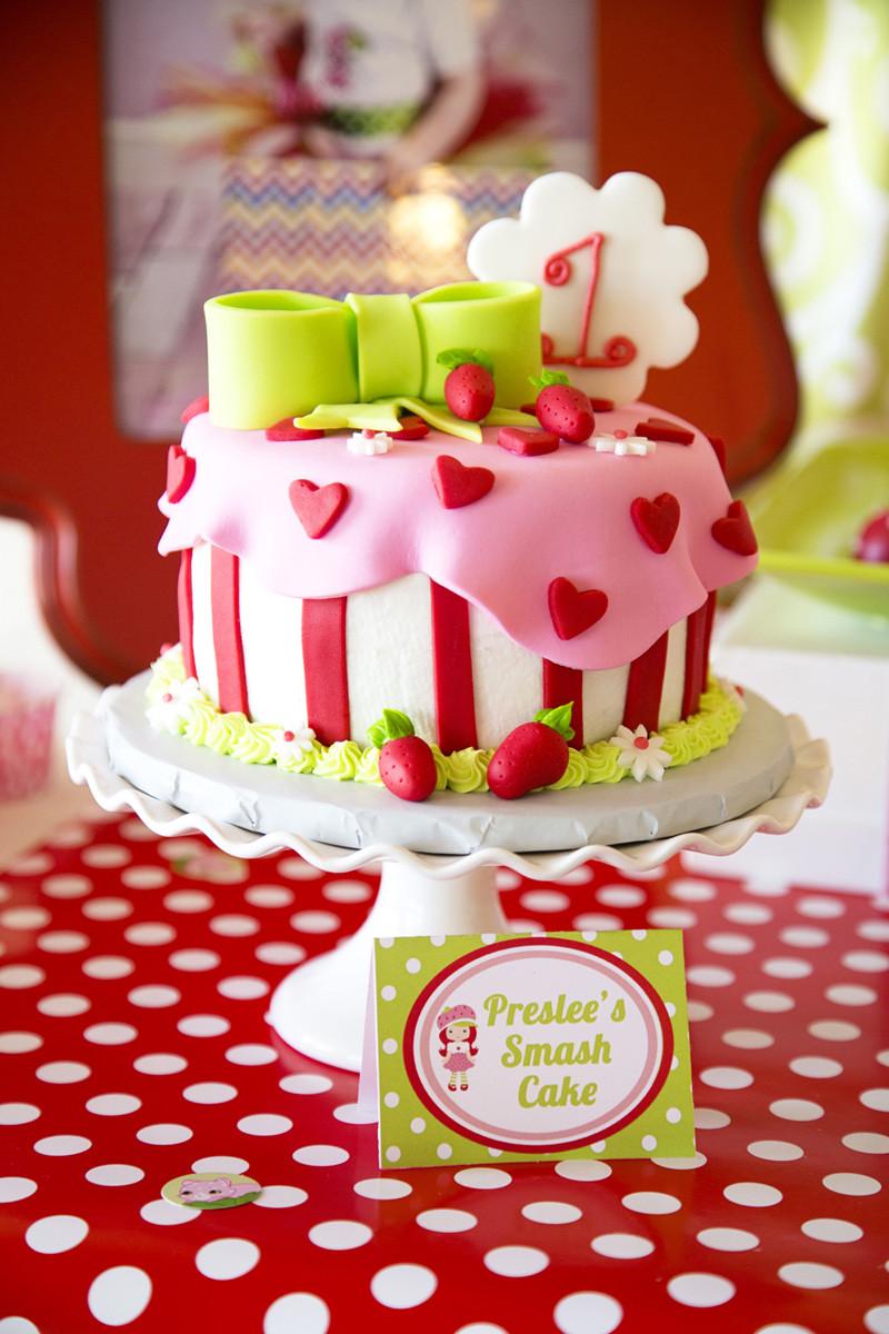 Strawberry Shortcake Cake  Strawberry Shortcake Party Lillian Hope Designs