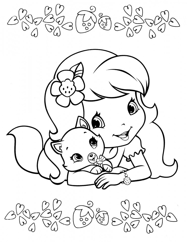 Strawberry Shortcake Coloring Page  Get This Strawberry Shortcake Coloring Pages line