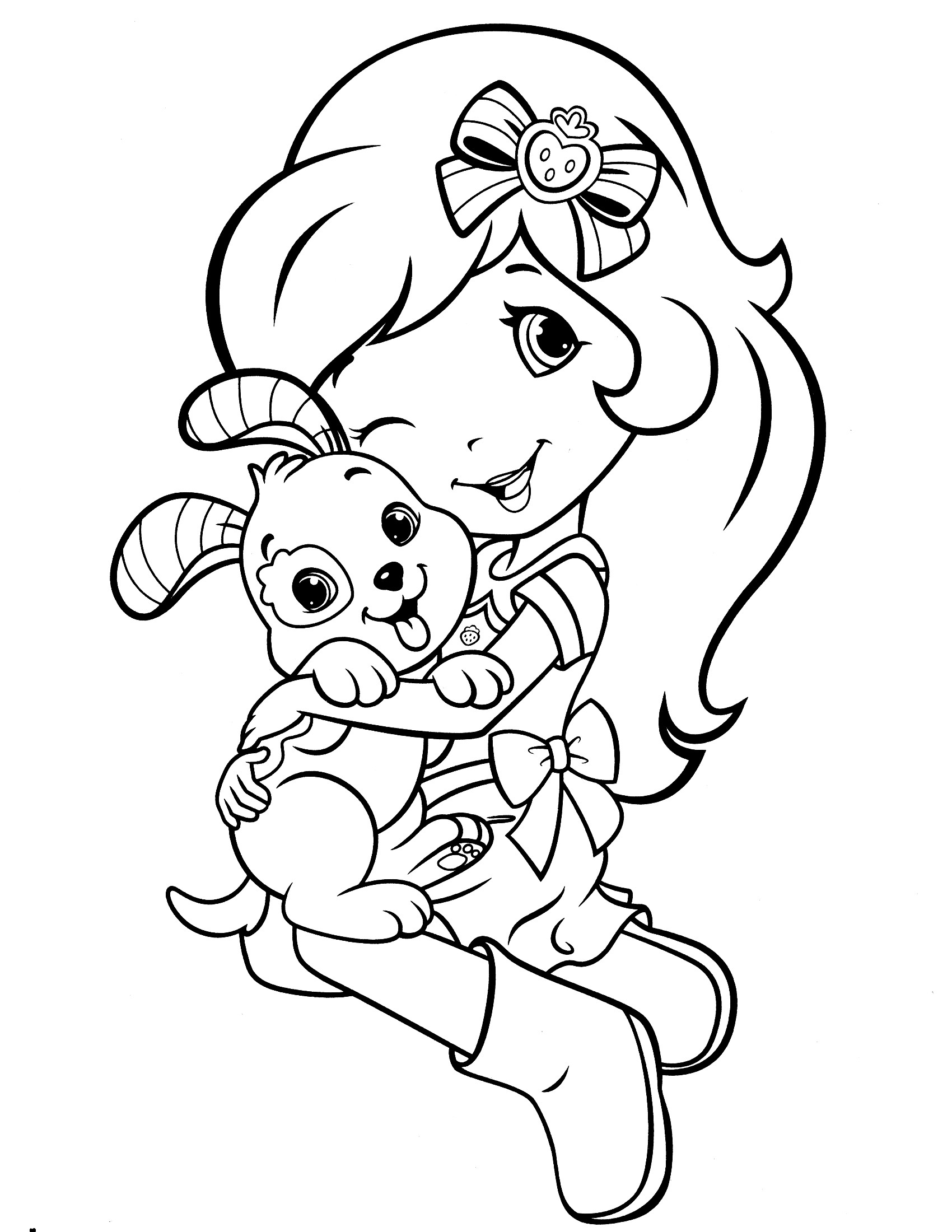 Strawberry Shortcake Coloring Page  Strawberry Shortcake Coloring Pages Cool coloring pages