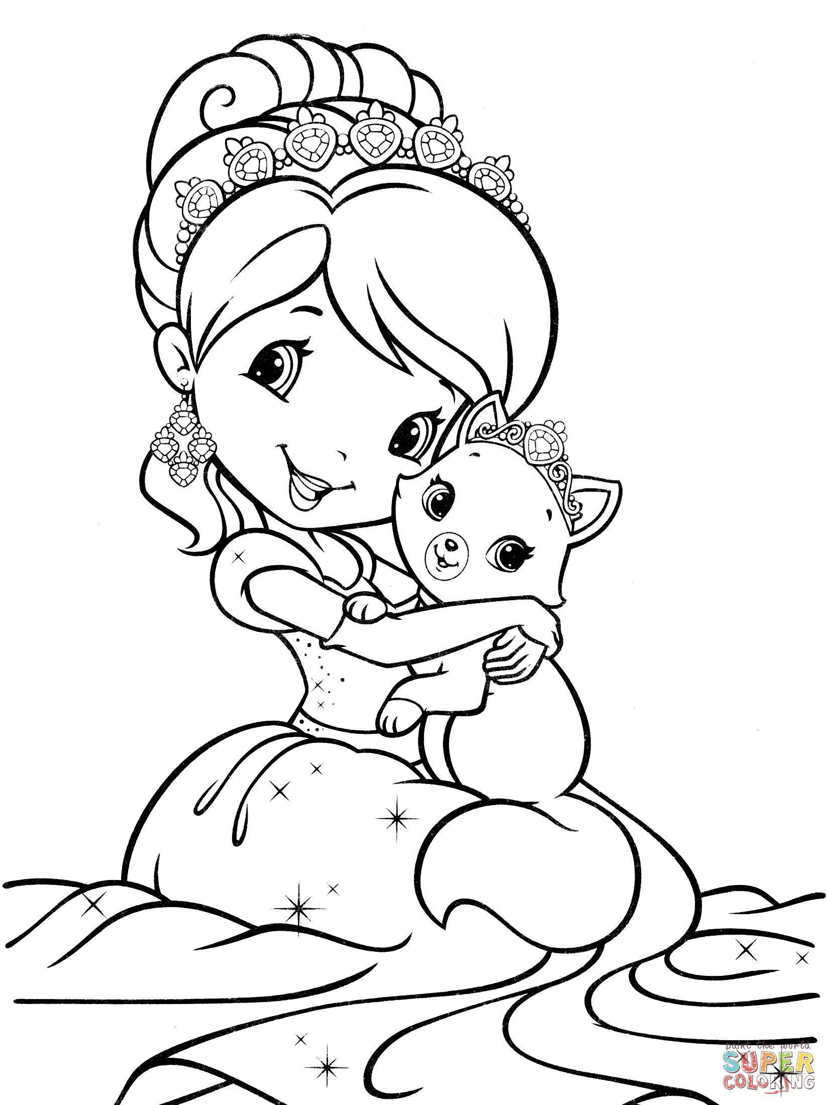 Strawberry Shortcake Coloring Page  Strawberry Shortcake Mermaid coloring page