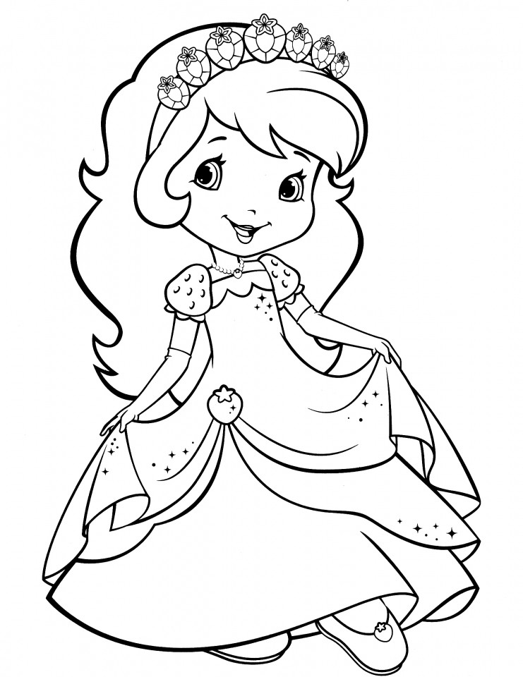Strawberry Shortcake Coloring Page  Get This Strawberry Shortcake Coloring Pages for Girls