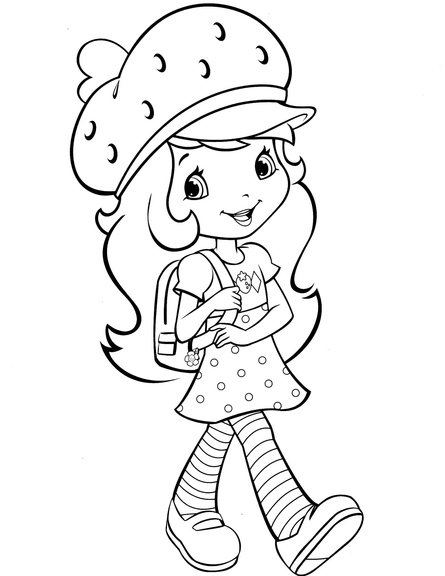 Strawberry Shortcake Coloring Page  Strawberry Shortcake 25 Coloringcolor