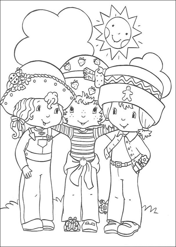 Strawberry Shortcake Coloring Page  Free Printable Strawberry Shortcake Coloring Pages For Kids