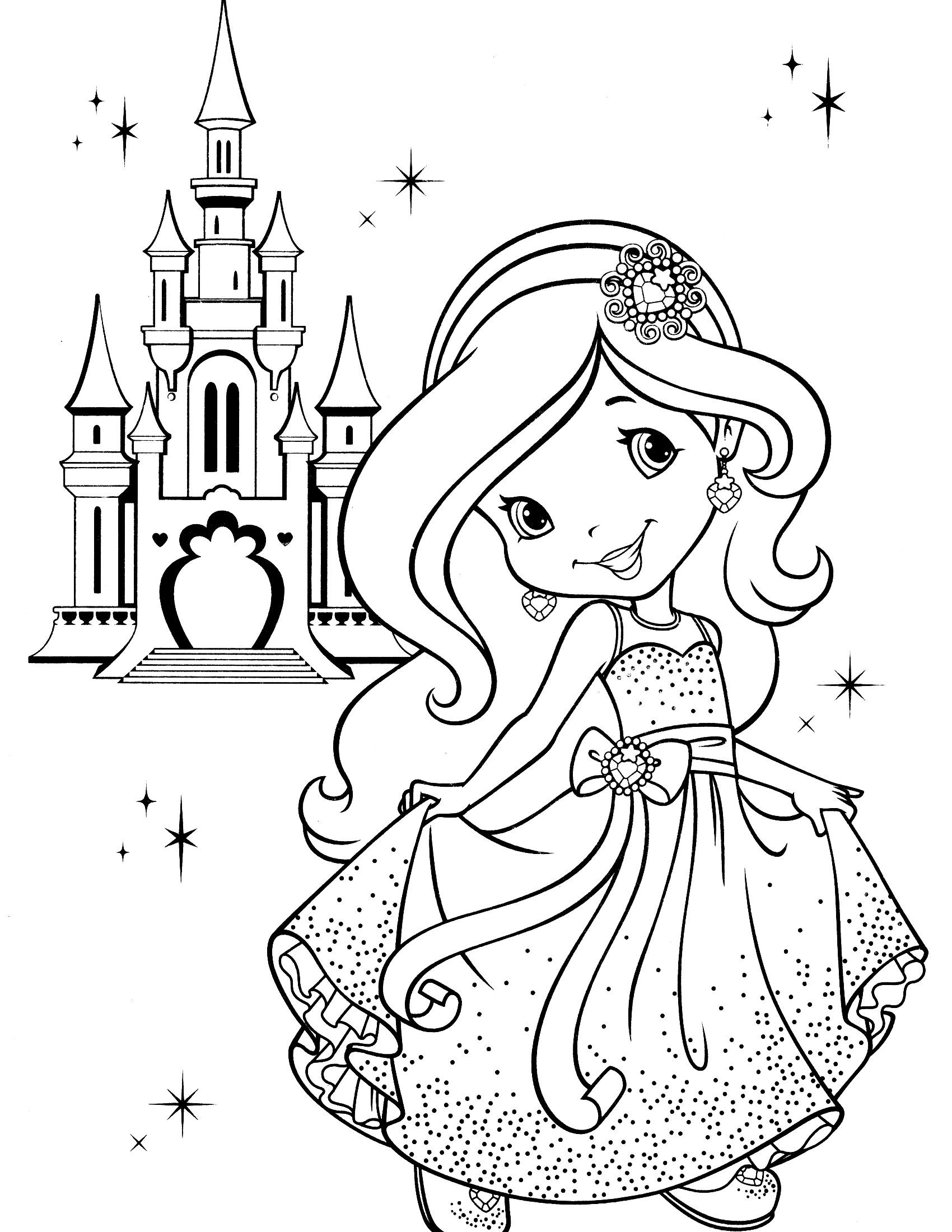 Strawberry Shortcake Coloring Page  Best Strawberry Shortcake Princess Coloring Pages