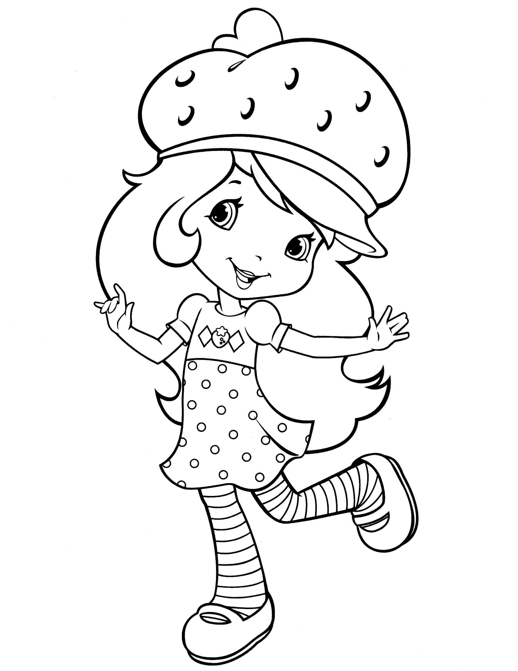 Strawberry Shortcake Coloring Page  Strawberry Shortcake 43 Coloringcolor