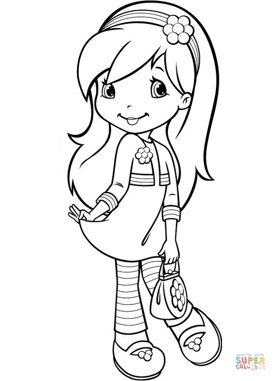 Strawberry Shortcake Coloring Page  Raspberry Torte from Strawberry Shortcake coloring page