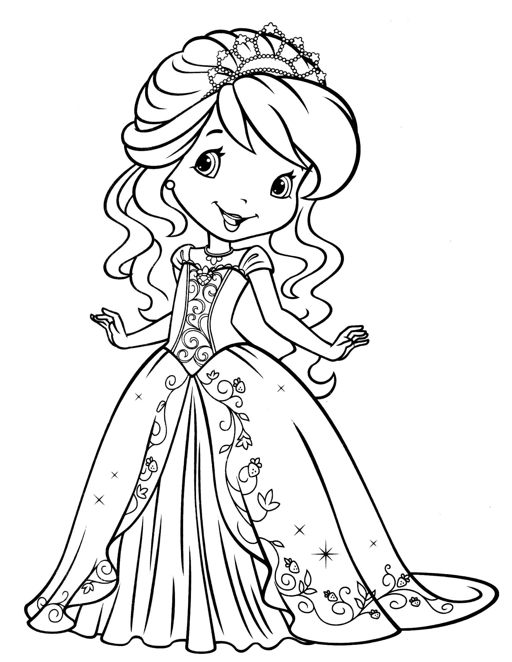 Strawberry Shortcake Coloring Page  Strawberry Shortcake 12 Coloringcolor