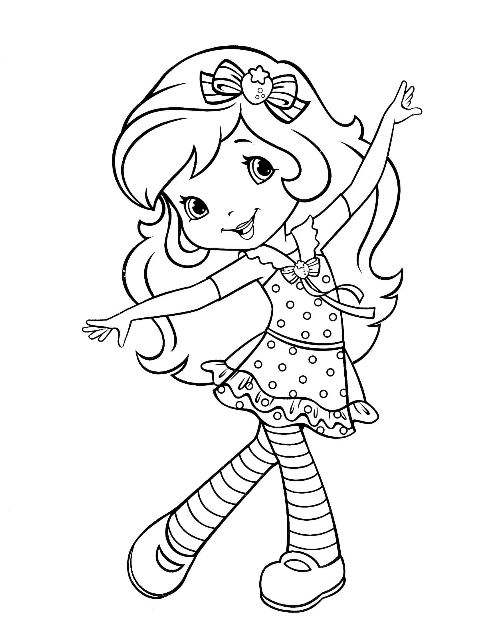 Strawberry Shortcake Coloring Page  Strawberry Shortcake 34 Coloringcolor