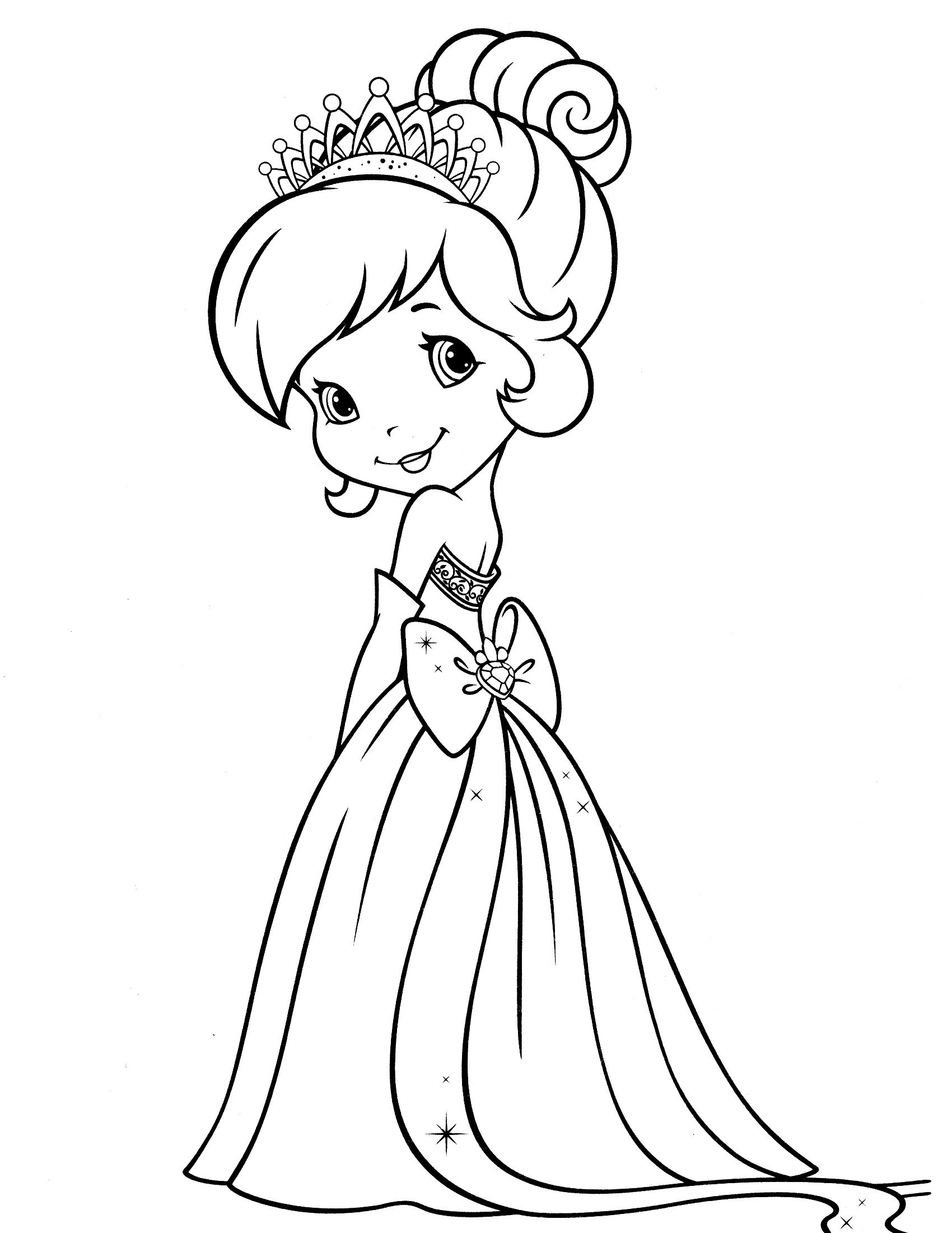 Strawberry Shortcake Coloring Page  Strawberry Shortcake Coloring Pages Bestofcoloring
