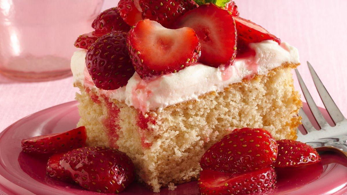 Strawberry Shortcake Dessert Recipes  Strawberry Shortcake Squares Recipe LifeMadeDelicious