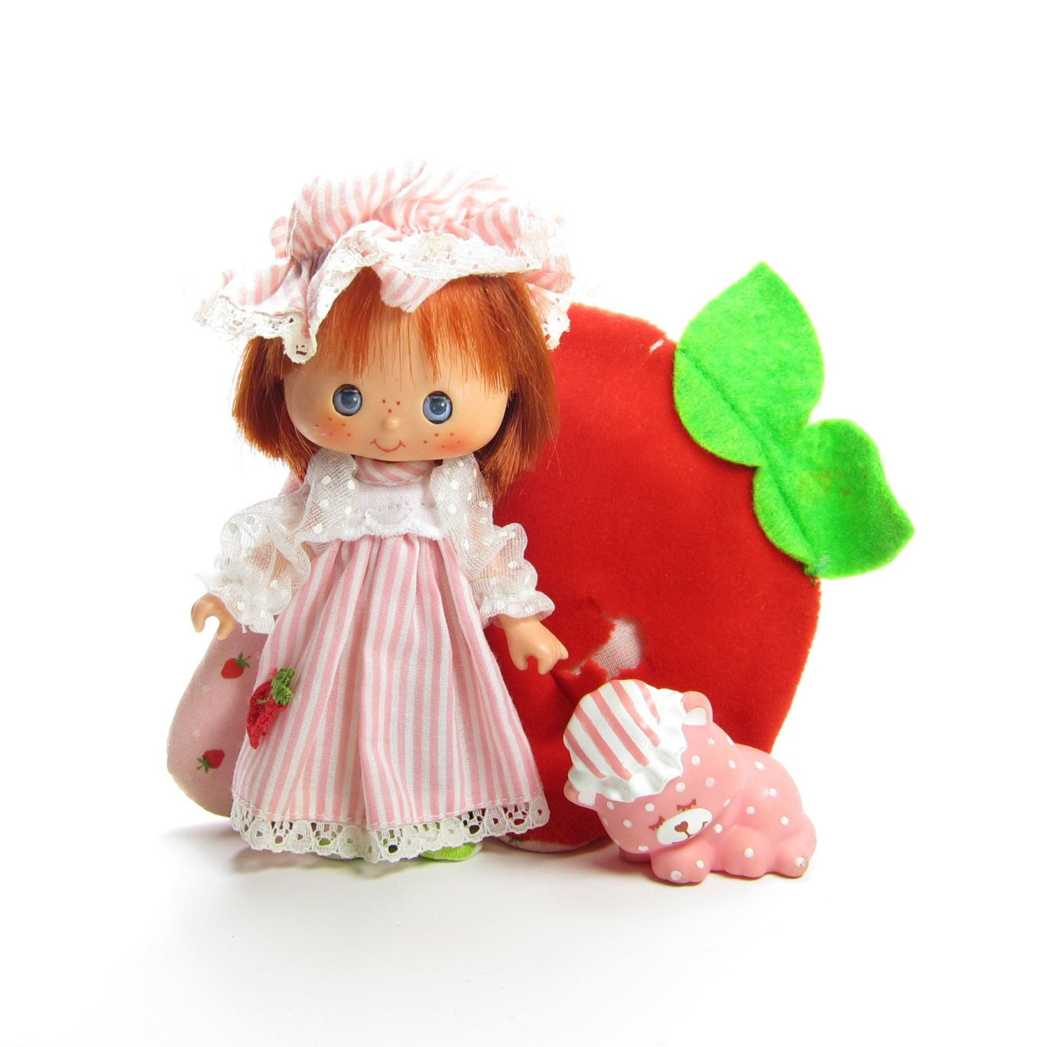 Strawberry Shortcake Doll  Sweet Sleeper Strawberry Shortcake Vintage Doll with