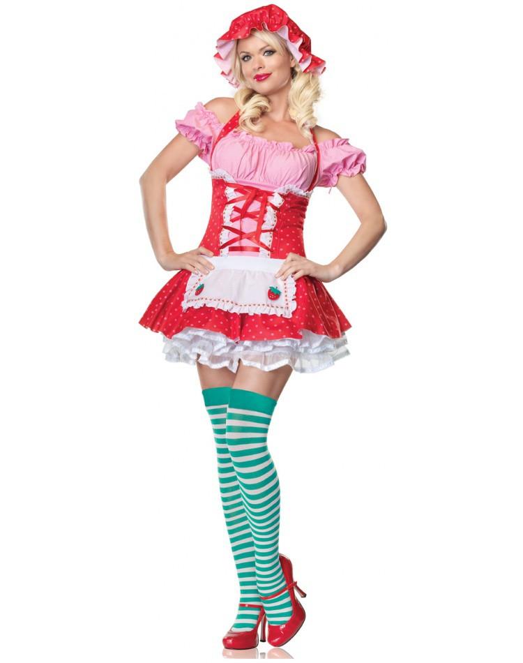 Strawberry Shortcake Haloween Costume  Country Girl adult Strawberry Shortcake Halloween costume