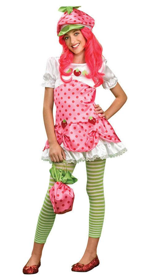 Strawberry Shortcake Haloween Costume  STRAWBERRY SHORTCAKE Adult Teen Costume Halloween 6 10