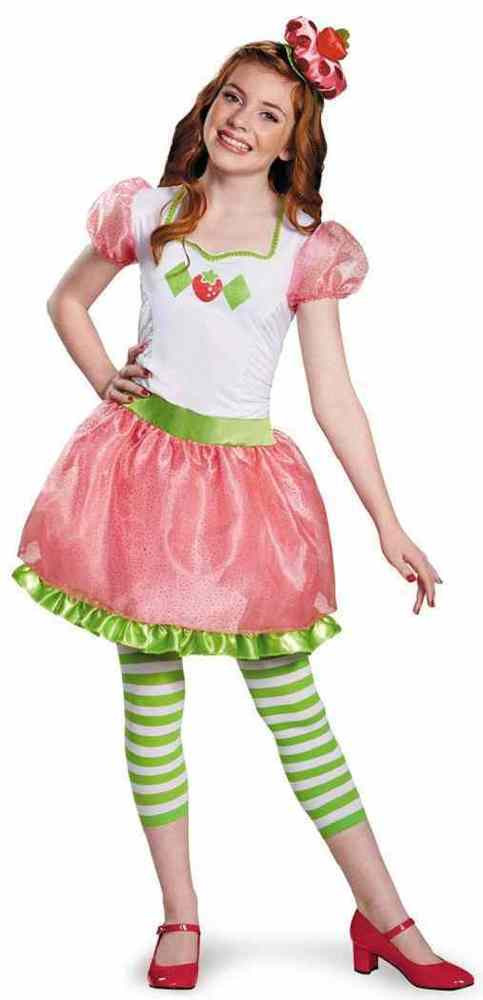 Strawberry Shortcake Haloween Costume  Strawberry Shortcake Tween Retro Cartoon Fancy Dress