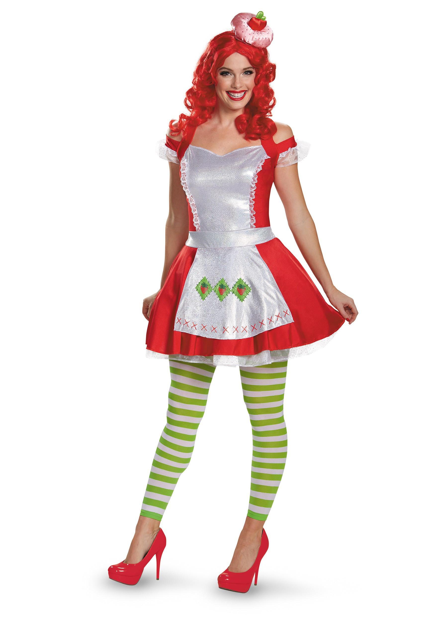 Strawberry Shortcake Haloween Costume  Strawberry Shortcake Deluxe Adult Costume