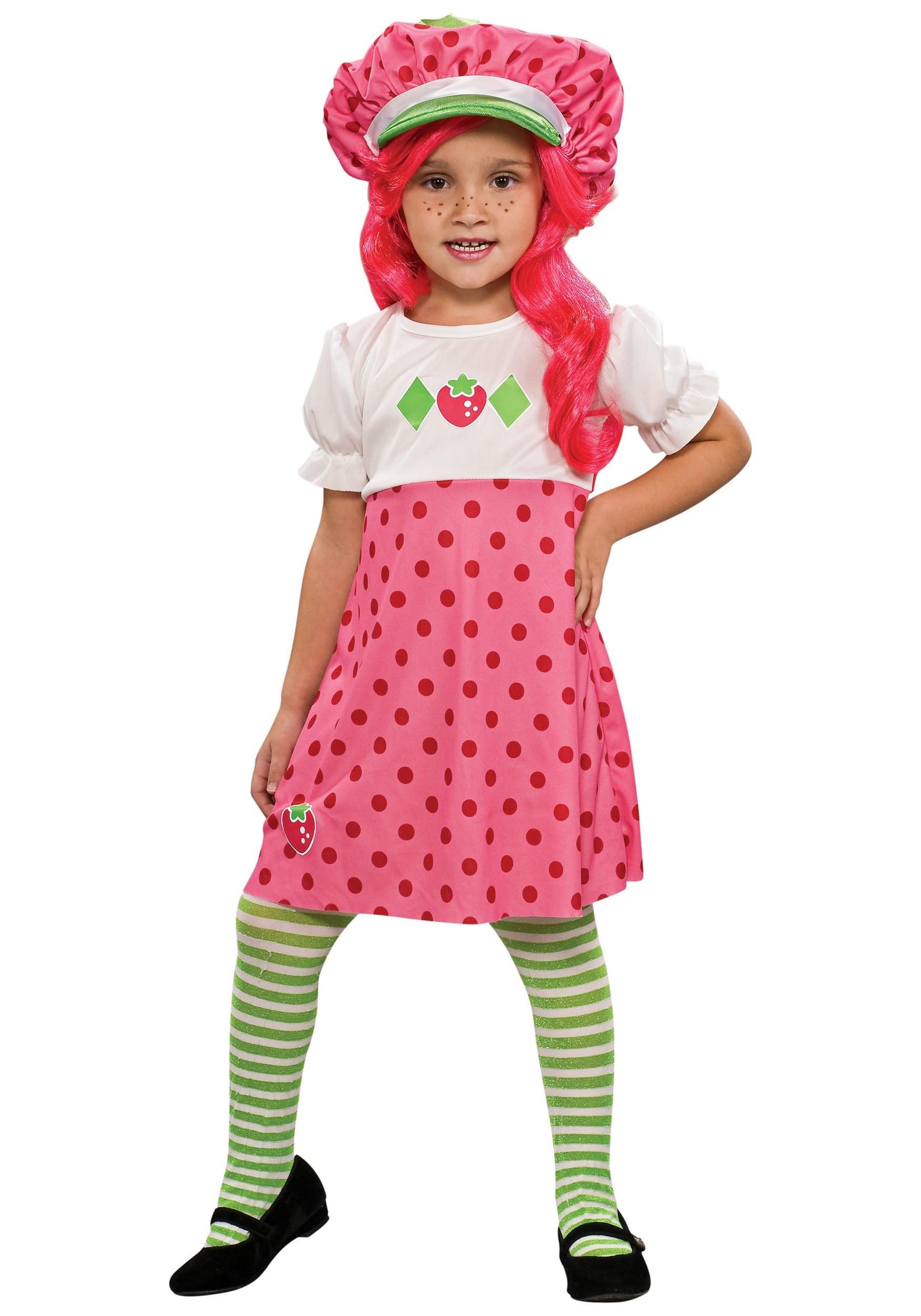 Strawberry Shortcake Haloween Costume  Toddler Strawberry Shortcake Costume
