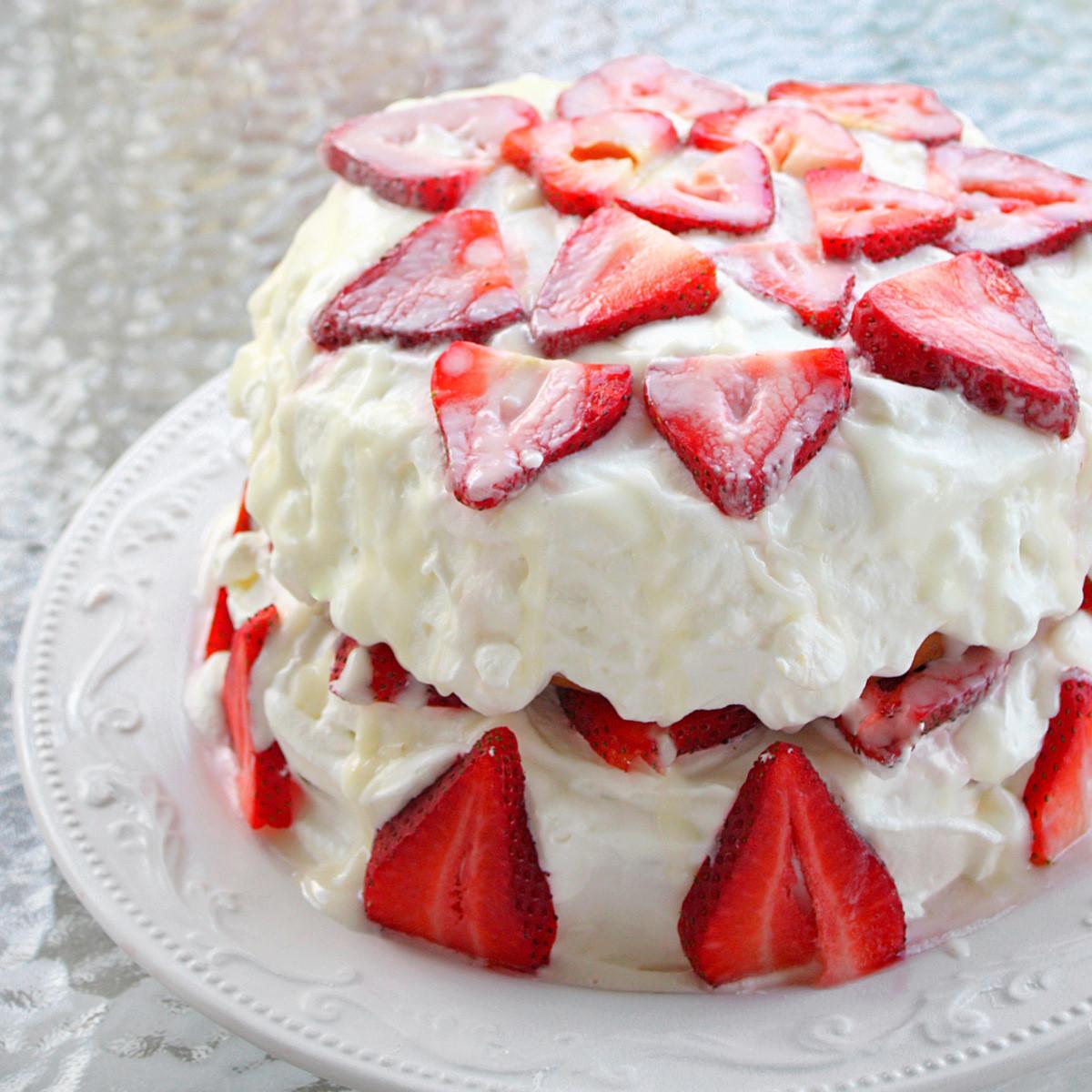 Strawberry Shortcake Videos  Strawberry Shortcake with Almond Glaze The Girl Who Ate