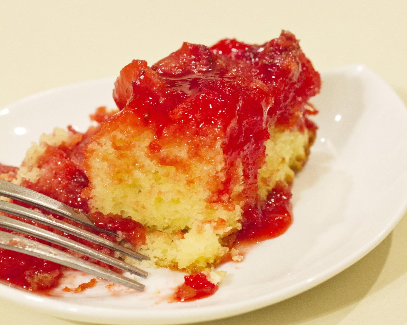 Strawberry Upside Down Cake  ButchInTheKitchen Strawberry Upside Down Cake
