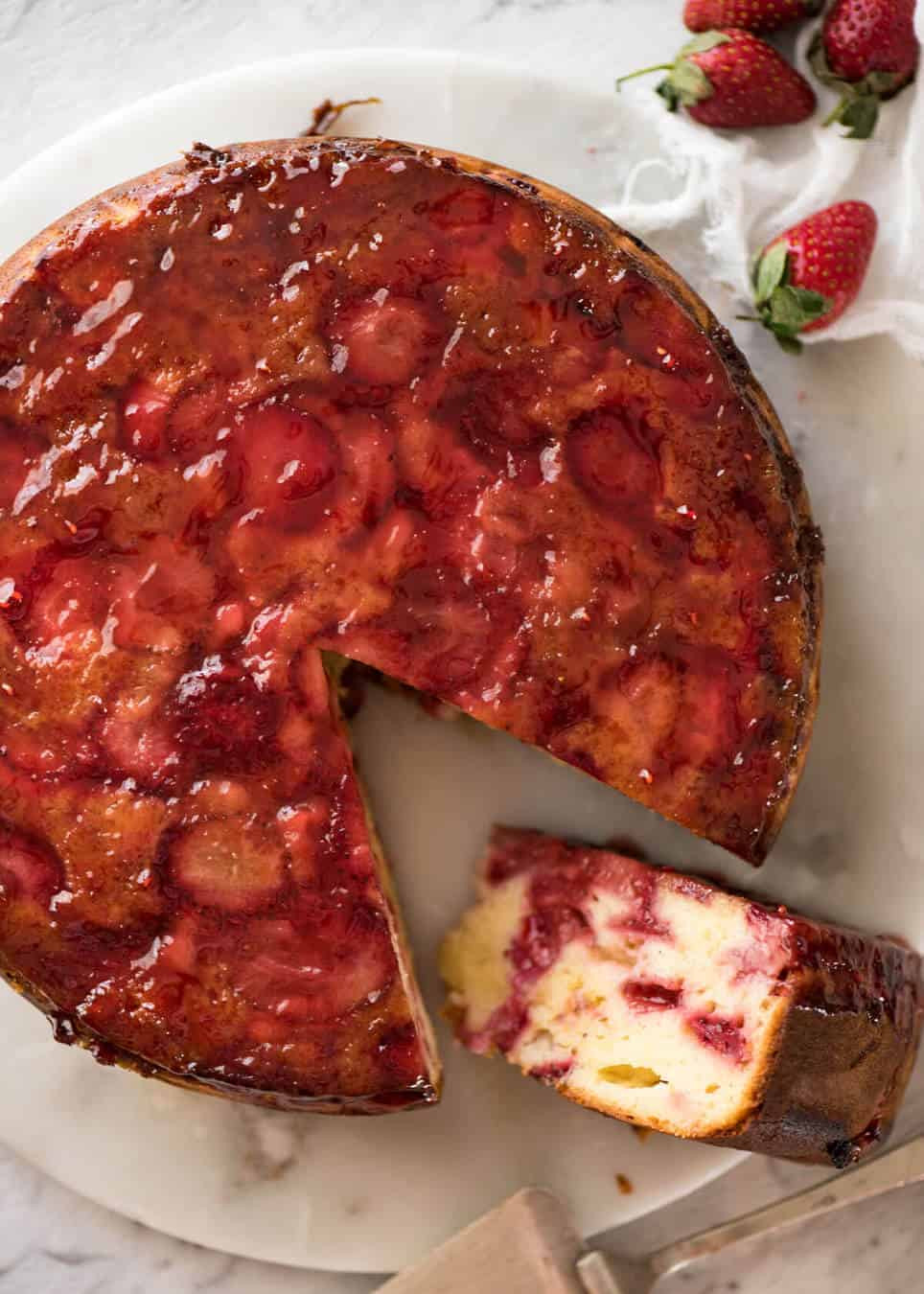 Strawberry Upside Down Cake  Upside Down Strawberry Cake