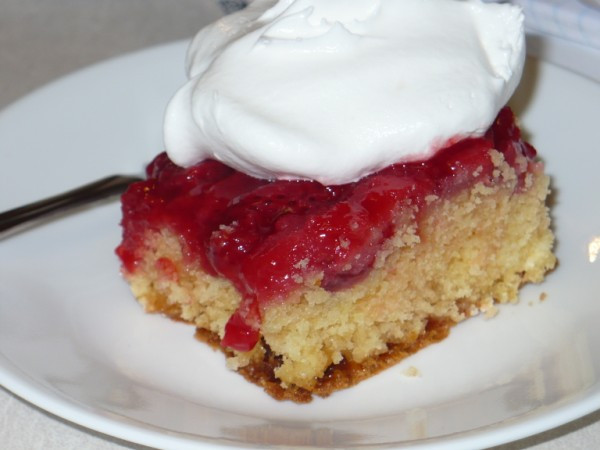 Strawberry Upside Down Cake  The Tall Girl Cooks Strawberry Upside Down Cake