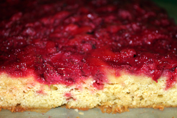 Strawberry Upside Down Cake  Skinny Strawberry Upside Down Cake