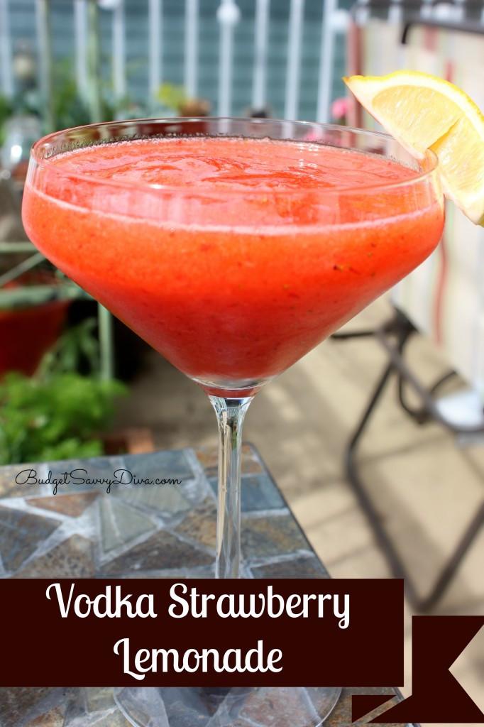 Strawberry Vodka Drinks  Vodka Strawberry Lemonade Recipe