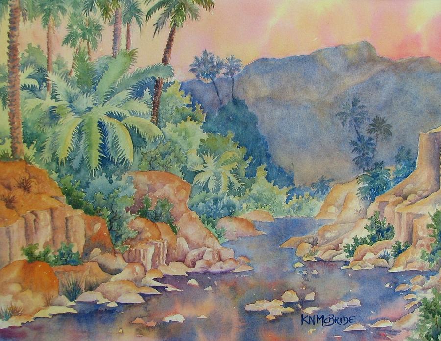Stream In The Dessert  Streams In The Desert Painting by Ken McBride