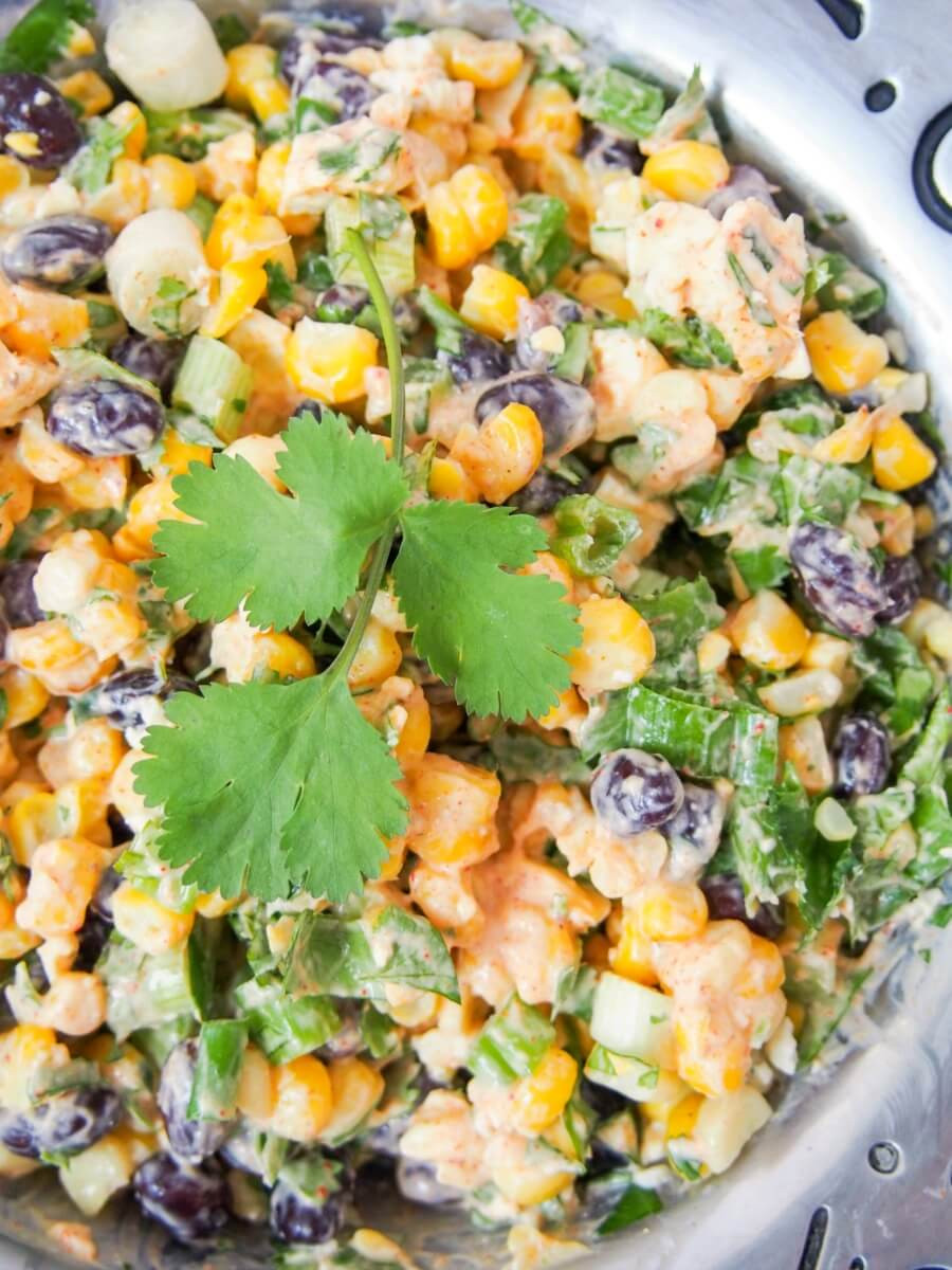 Street Corn Salad  Mexican street corn salad Caroline s Cooking